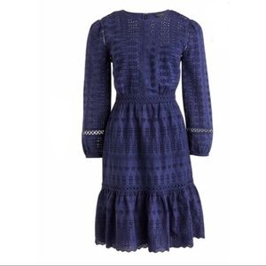 J. Crew Long Sleeve Embroidered Dress - Size 14